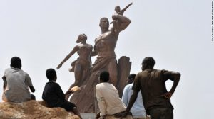 Photos: Africa's communist legacy The African Renaissance Monument in Dakar, Senegal, stands 164 feet high -- 13 feet taller than the Statue of Liberty. Inaugurated in 2010, it depicts a man, woman and child in the socialist realism style