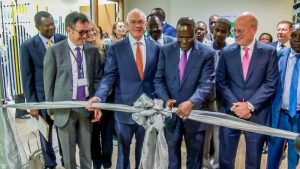 From Left: Farid Fezoua, President & CEO, GE Healthcare Africa, Jay Ireland, President & CEO, GE Africa, Dr Cleopa Mailu, Cabinet Secretary, Ministry of Health for Kenya, John Flannery, President & CEO of GE Healthcare