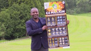 Amadou Gillen won £10 followed by £4m on two scratchcards