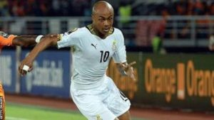 Andre Ayew captained Ghana in the absence of injured skipper Asamoah Gyan