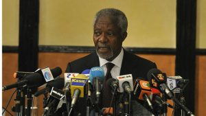 Mr Annan was appointed by the African Union to mediate the crisis that followed the 2007 election
