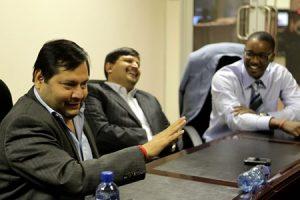 Businessmen Ajay and Atul Gupta. Source: Muntu Vilakazi/Getty
