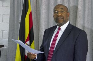 Uganda's Prime Minister Ruhakana Rugunda, in 2014 when he was Minister for Health. ISAAC KASAMANI/AFP/Getty Images