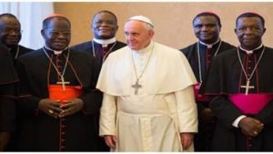 Pope Francis with Congolese Bishops