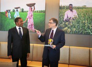 File Picture Former Tanzanian President Kikwete with Bill Gates