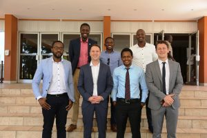 Alon Lits Uber GM SSA   Loic Amado Head Of Expansion SSA   Bertrand Nembot Launcher and some of the first driver-partners in Kampala