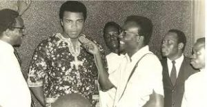 Ali answering questions from Nigerian Journalists during a 1964 visit