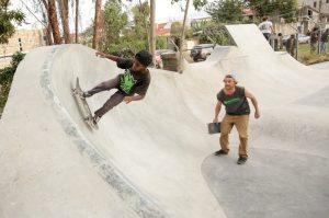 The skatepark opened in April. Sean Stromsoe
