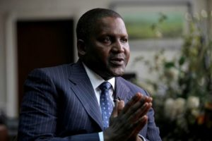 Founder and Chief Executive of the Dangote Group Aliko Dangote gestures during an interview with Reuters in his office in Lagos Thomson Reuters