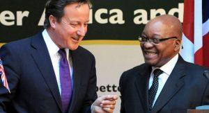 British Prime Minister David Cameron and Jacob Zuma