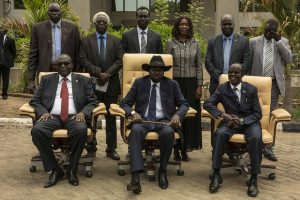Ministers of the Transitional Government of National Unity after being sworn into office in April. Credit: UNMISS.