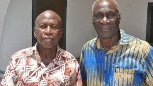 Former Ghana internationals Osei Kofi, left, and Kofi Pare, right