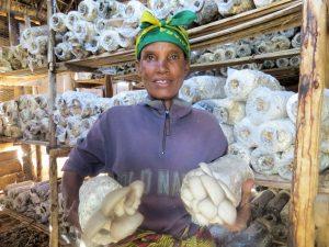 Tanzania mushroom farmer Magdalena