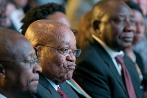 President Jacob Zuma's African National Congress had its worst showing ever in elections in August, amid scandals and economic problems. HERMAN VERWEY/AP
