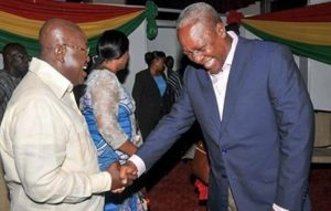 The front runners in the 2016 elections - Nana Addo and John Mahama
