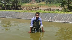 BBC Africa's Sophie Ikenye visits a fish farm with a difference in Kenya
