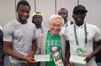 Katsuya Takasu travelled from Tokyo to Brazil to reward Nigeria's Olympic footballers