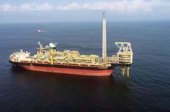 FILE - The oil ship Prof John Evans Atta Mills is seen moored off the coast of the port of Takoradi, Ghana, July 14, 2016.