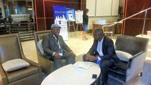 President Banda With PAV's Ajong Mbapndah L in Philadelphia