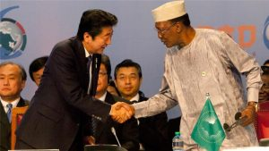 Abe is using the conference to meet dozens of leaders from across the continent [Sayyid Abdul Azim/AP]
