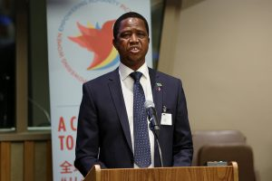 President Edgar Lungu was re-elected by a slim margin. Credit: UN Women/Ryan Brown.