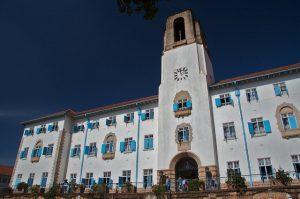 The Makerere University administration building, Kampala, Uganda. Credit: Ian Beatty.