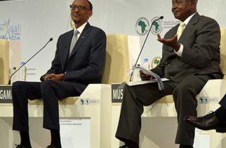 Presidents Kagame of Rwanda and Museveni of Uganda