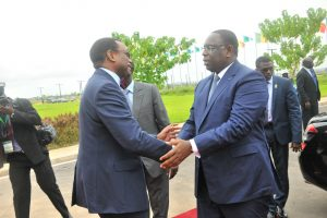 Senegal President Macky Sall with AFDB President Adesina