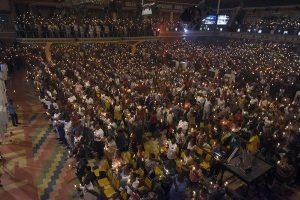 Worshipers at Joshua's New Year's memorial service in Lagos. Source Pius Utomi Ekpei/Getty