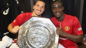 Manchester United's Eric Bailly and team mate Zlatan Ibrahimovic