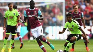 Senegal's captain Cheikhou Kouyate plays for West Ham