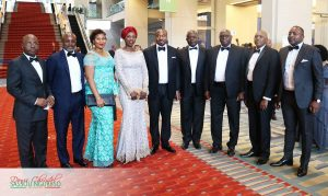 Sassou Nguesso and the Perspectives d'Avenir Delegation were part of the Congressional Black Caucus Foundation Phoenix Dinner that honored President Obama and Democratic party Presidential candidate Hillary Clinton