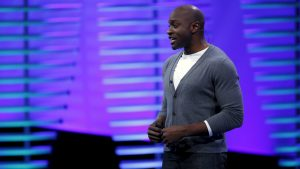 Archibong is Facebook's director of strategic partnerships.(Reuters/Stephen Lam)