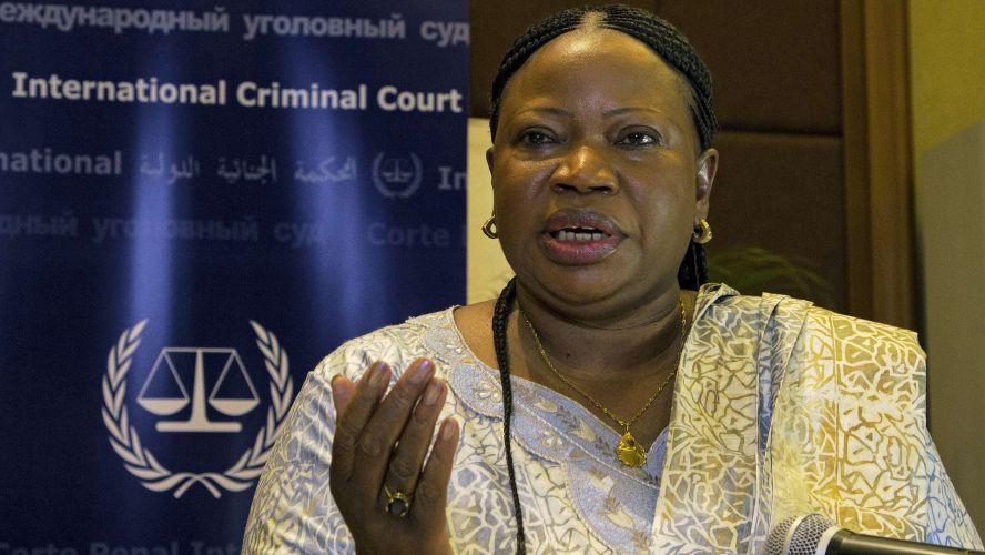 ICC Prosecutor Fatou Bensouda, speaking in Kampala
