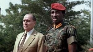 Thomas Sankara had a confrontational relationship with then-French President Francois Mitterand