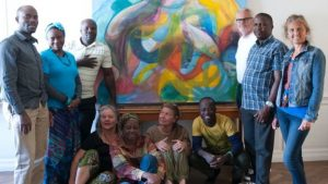 Ms Grette arranged for African artists to visit Europe