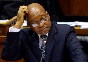 Embattled President Jacob Zuma