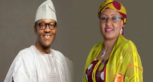 President Buhari with his wife