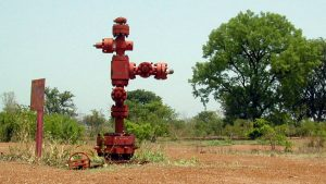 One of Chad's first oil well-heads (Reuters)