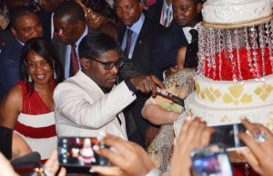 Teodoro Nguema Obiang Mangue, the vice president of Equatorial Guinea and son of the president, cuts his birthday cake in 2010. The Justice Department says he went on a $100 million shopping spree in the U.S. with money stolen from his homeland. Some $30 million was recovered. AFP/Getty Images