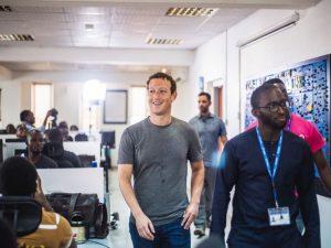 Facebook founder Mark Zuckerberg visits the Andela offices in Lagos, Nigeria. (Photo: Lex Ash)