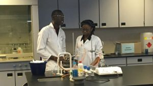 The new medical school at the University of Namibia boasts a number of hi-tech laboratories