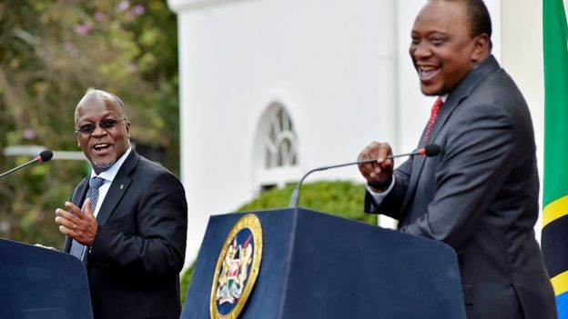 Kenyans are calling on their president to get tips for fighting corruption from Magufuli
