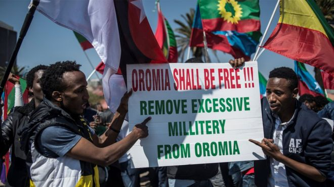 Ethiopians across the world have been protesting