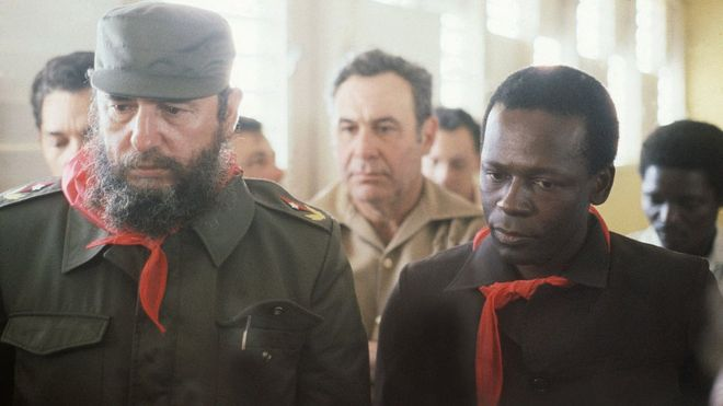 Fidel Castro backed Angolan President Eduardo dos Santos for many years