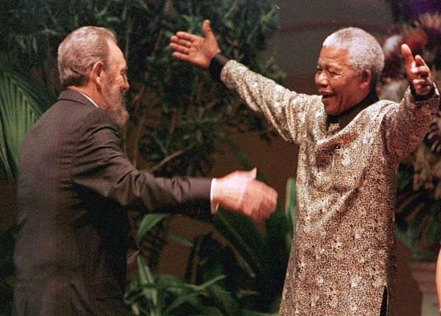 Fidel Castro's intervention in Angola helped turn the US against apartheid South Africa