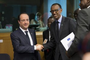 Rwanda's Paul Kagame and Hollande of France
