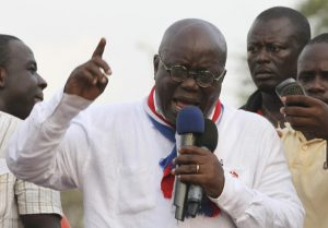 New Patriotic Party (NPP) leader Akufo-Addo speaks during a meeting to contest the presidential election results, Kwame Nkrumah Circle, Accra, December 11, 2012. LUC GNAGO/REUTERS