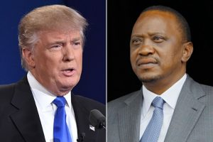 U.S. President-elect Donald Trump, left, and Kenyan President Uhuru Kenyatta. (left: Agence France-Presse via Getty Images; right: Associated Press)