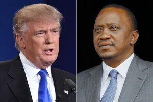 U.S. President-elect Donald Trump, left, and Kenyan President Uhuru Kenyatta. (left: Agence France-Presse via Getty Images; right: Associated Press)